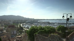 CANNES WIDE VIEW Stock Footage