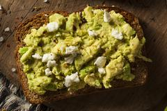 healthy homemade avocado toast - stock photo