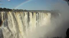 Victoria falls waterfalls Stock Footage