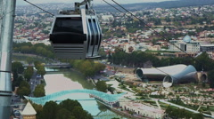 Cable car in Tbilisi Stock Footage