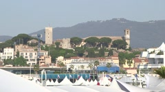 VIEW OF CANNES FROM CROISSETTE Stock Footage