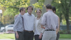 Young Professionals posing for picture - stock footage