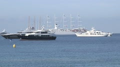 CANNES YACHTS Stock Footage