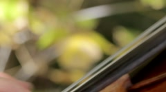 Closeup of fingers playing violin Stock Footage