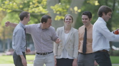 Young Professionals posing for picture Stock Footage