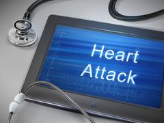 Heart attack words display on tablet Stock Illustration