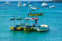 marina in san cristobal galapagos islands ecuador - stock photo
