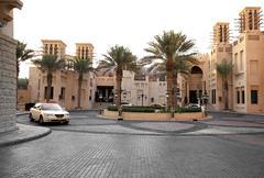 Area of the Madinat Souk. - stock photo