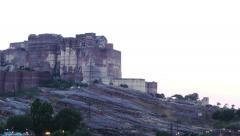 Mehrangarh Fort in Jodhpur Stock Footage