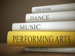 book title of performing arts - stock illustration
