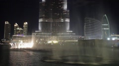Stock Video Footage of Dubai fountain