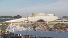 EXPO 2012 Yeosu South Korea signature buildig Stock Footage