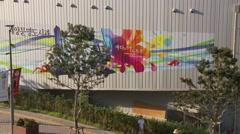 EXPO 2012 Yeosu South Korea signature building art Stock Footage