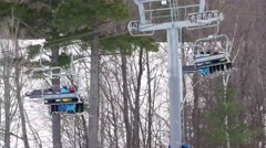 4K Quad Chair Lift - stock footage