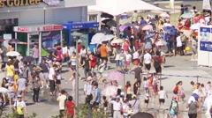 EXPO 2012 Yeosu South Korea visitors Stock Footage