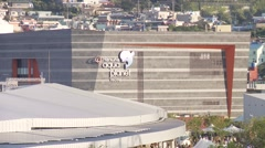 EXPO 2012 Yeosu South Korea aquarium building Stock Footage
