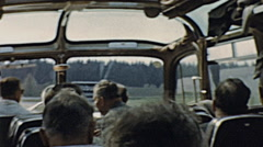 Bavaria 1959: tourist coach with glass roof Stock Footage