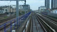 Docklands Light Railway, London, England, UK Stock Footage