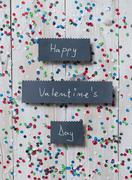 """""""happy valentine's day"""" handwritten card Stock Photos"""
