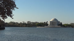 Jefferson Memorial in spring time Stock Footage