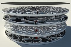 3d model of Futuristic Multi Level Labyrinth