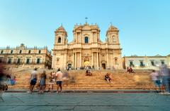 Stock Photo of baroque cathedral in noto, sicily