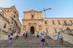 convent of the holy savior in noto, italy - stock photo