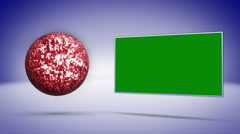 Disco Ball Fly Background, with Green Screen Monitor Stock Footage