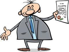 Stock Illustration of man with diploma cartoon illustration