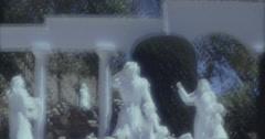 Desert Christ Park 60s 16mm Stock Footage