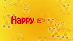 Happy Easter Animation Stock Footage