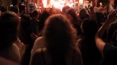 Pop Concert Audience Stock Footage