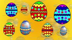 Happy Easter - Dancing Eggs Stock Footage