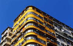 old apartments - stock photo