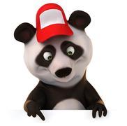 Fun panda Stock Illustration
