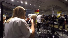 Hairdressing competition for hairdressers Stock Footage