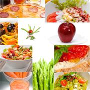 Stock Photo of healthy vegetarian vegan food collage