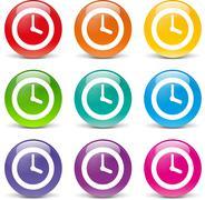 Clock icons Stock Illustration