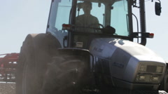 tractor plowing as much dust and unfold - stock footage