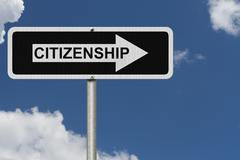 Stock Illustration of the way to getting citizenship