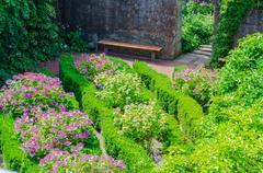 gardens, flowers, flower beds, herbs - stock photo