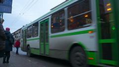 Bus station in krasnoyarsk, time lapse Stock Footage