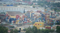 Time Lapse of Busy Shipping Container Port in Southern Vietnam Stock Footage