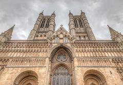 lincoln cathedral - stock photo