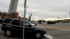Dynamic Time Lapse of busy intersection - stock footage