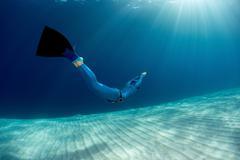Freediver - stock photo