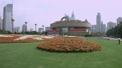 4K, UHD, Shanghai Museum in China, BlackMagic Production Camera Stock Footage