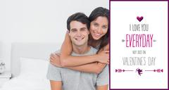 Composite image of woman embracing her partner Stock Illustration