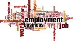 Employment word cloud Stock Illustration