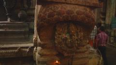 People at Meenakshi Amman Temple in Madurai, Tamil Nadu, India. - stock footage